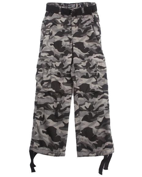Arcade Styles Boys Black,Camo,Black,Camo Camo Cargo Pants (8-20)