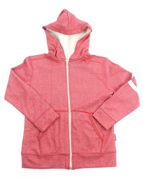 Arcade Styles - Boys Red Marled French Terry Hoody (8-20)