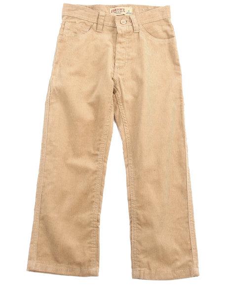 Arcade Styles - Boys Khaki Corduroy Pants (4-7)
