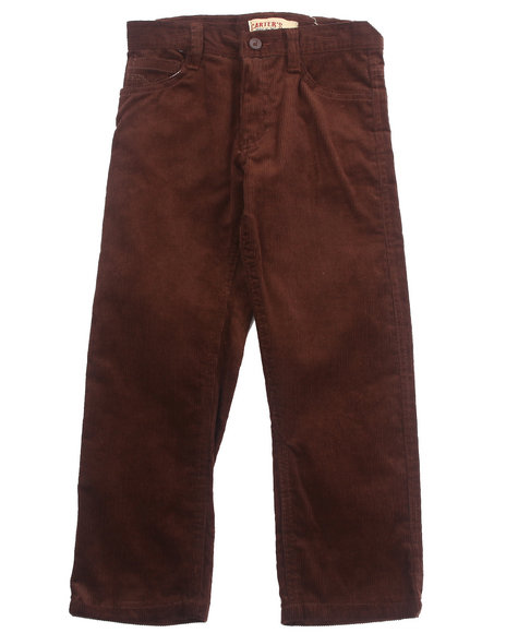 Arcade Styles - Boys Brown Corduroy Pants (4-7)