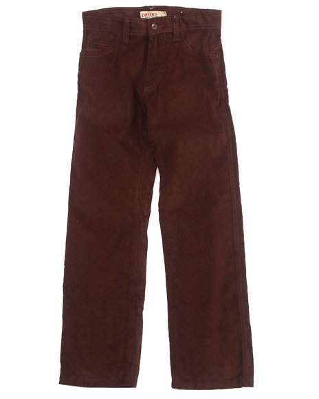 Arcade Styles - Boys Brown Corduroy Pants (8-20)