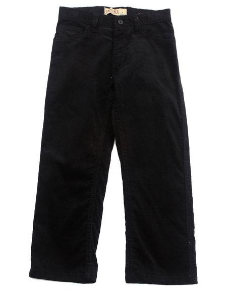 Arcade Styles - Boys Black Corduroy Pants (4-7)