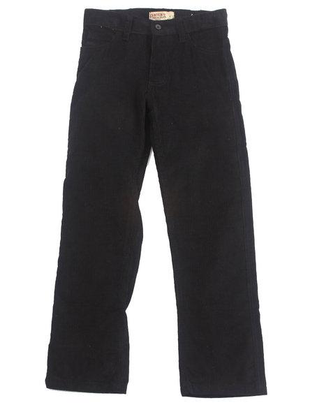 Arcade Styles - Boys Black Corduroy Pants (8-20)