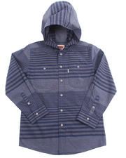 Boys - HOODED STRIPED WOVEN (8-20)