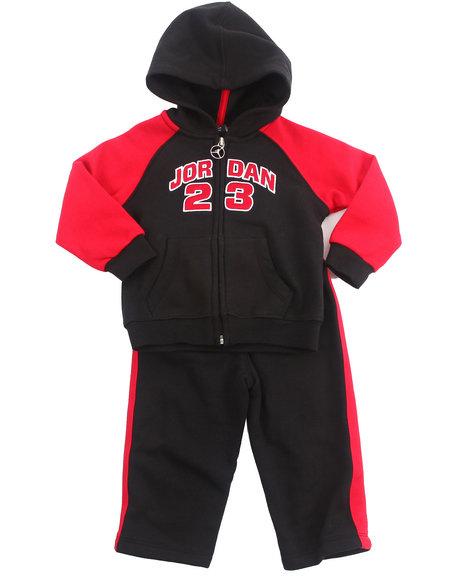 Air Jordan Boys Red 2 Pc Classic Fleece Set (Infant)