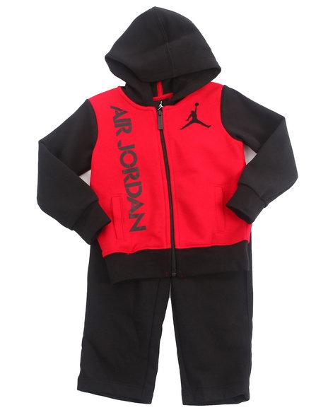 Air Jordan Boys Black 2 Pc Bright Lights Fleece Set (Infant)