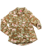 Sizes 7-16 - Big Kids - CAMO CHIFFON TOP W/ CAMI (7-16)