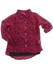 Sizes 7-16 - Big Kids - ANIMAL PRINT CHIFFON TOP W/ CAMI (7-16)