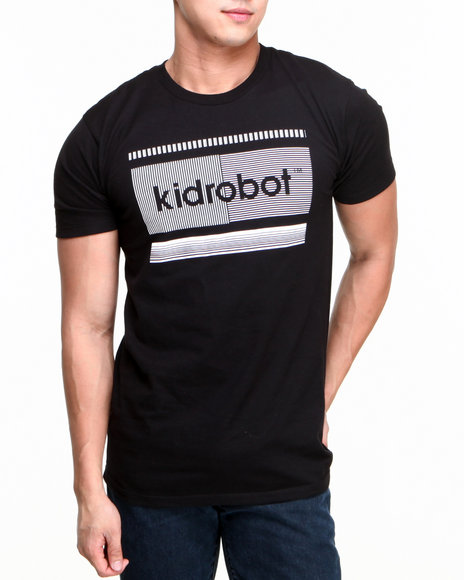 Kid Robot Black Lined Block Kid Robot Tee