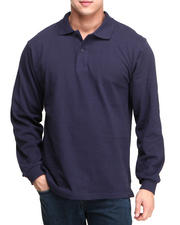 Men - Long Sleeve Pique Polo