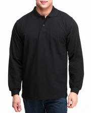 Basic Essentials - Long Sleeve Pique Polo