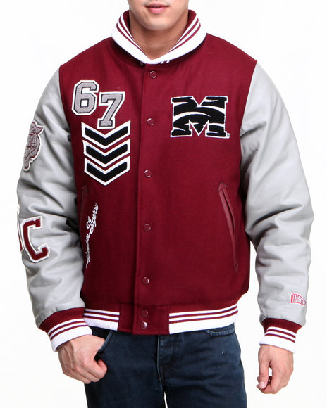 - Red Morehouse College Wool Award Jacket