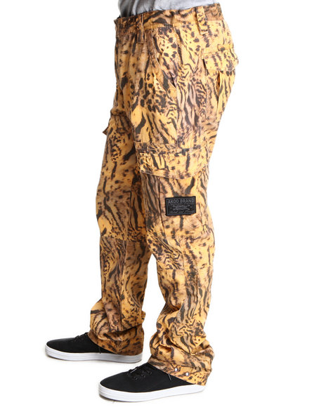 Akoo - Men Animal Print Carnivore Hyena Print Pants