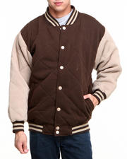 Basic Essentials - Fleece Varsity Jacket