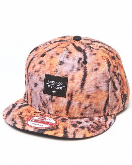 Akoo Men Henderson Snapback Cap Animal Print 1SZ