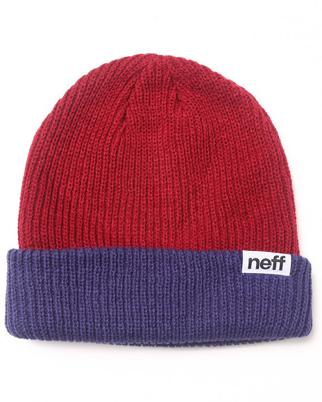 Neff Fold Double Heavy Knit Hat Maroon