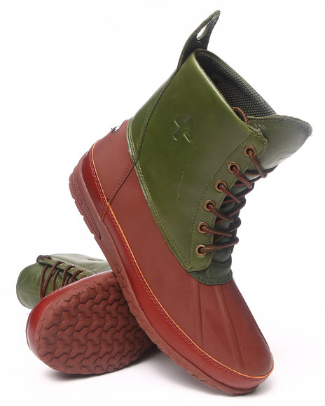 Psyberia - Men Brown,Green Mudguard Boot