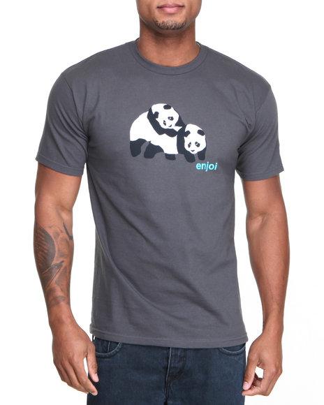 Enjoi Grey Piggyback Pandas Tee
