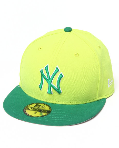 New Era - Men Green New York Yankees Hypertint Basic 5950 Fitted Hat