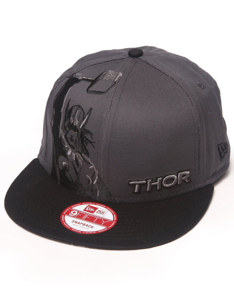 New Era Grey Thor Panel Face Snaback Hat