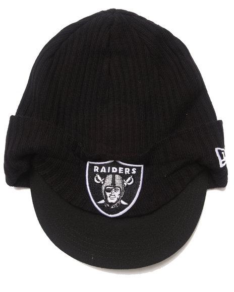 New Era Men Oakland Raiders Viza Beanie Knit Hat Black