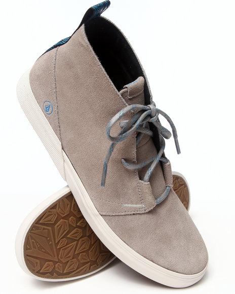 Volcom - Men Grey De Fray Grey Combo Sneakers