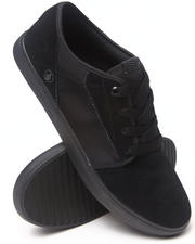 Men - Grimm Black on Black Suede/Nylon Sneakers