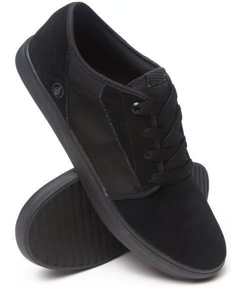 Volcom Black Grimm Black On Black Suede/Nylon Sneakers