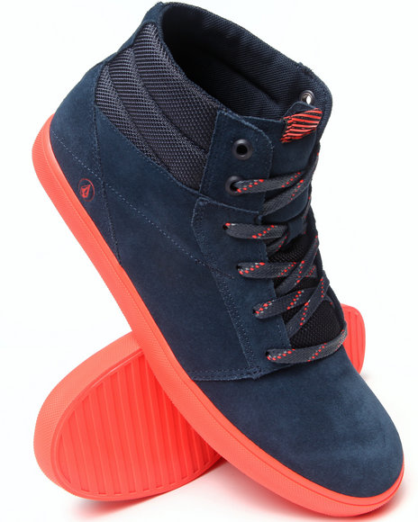 Volcom Men Grimm Mid Blue ComboSuede Sneakers Blue 11.5