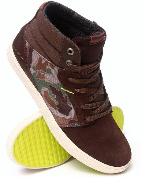 Volcom Camo Grimm Mid Camouflage Leather/Nylon Sneakers