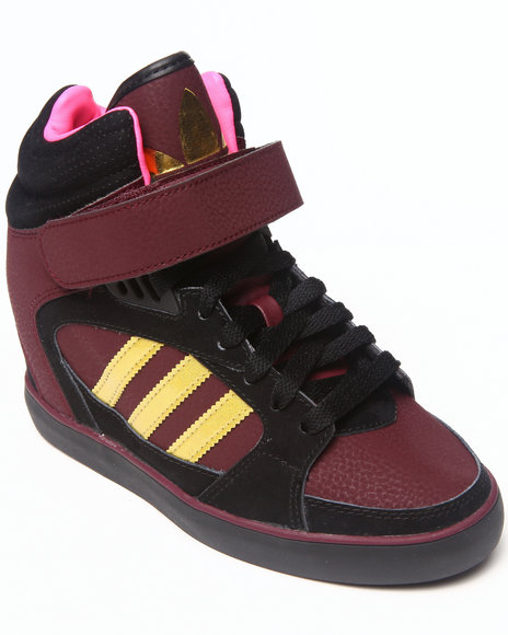 Adidas Maroon Amberlight Heel Wedge Sneakers
