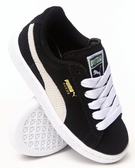 Puma Boys Black Suede Jr Sneakers (11-7)