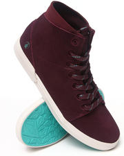 Footwear - Buzzard Burgundy Suede Sneakers