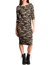 Cyber Monday Deals - CAMO MIDI DRESS