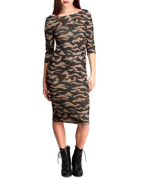 Glamorous Camo Camo Midi Dress
