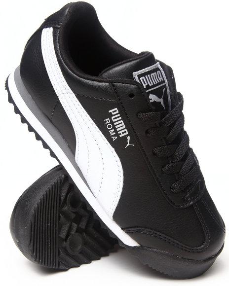 Puma - Boys Black Roma Sneaker (11-7)