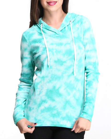 Volcom Teal Back It Up Hooded Thermal