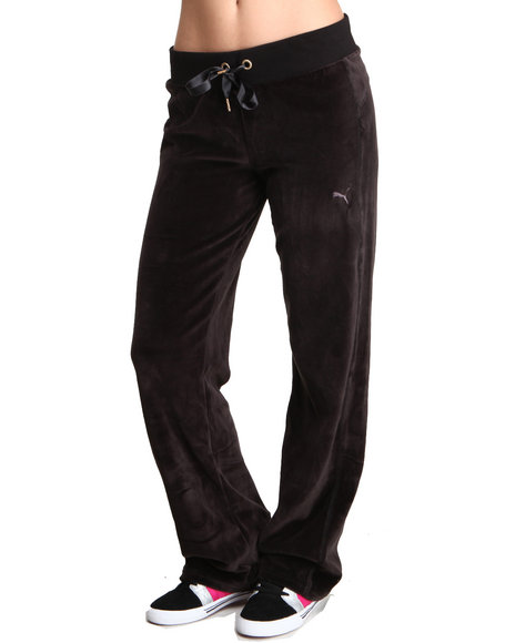 Puma Black Velour Pants
