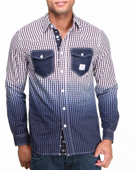 Parish Blue Auto Button-Down