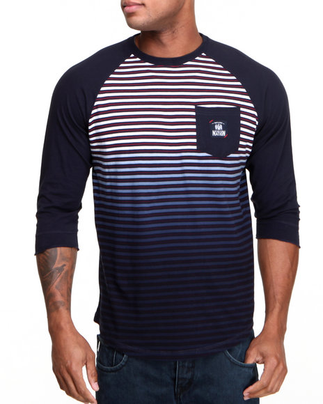 Parish Navy Adult Crew 3/4 Raglan Tee