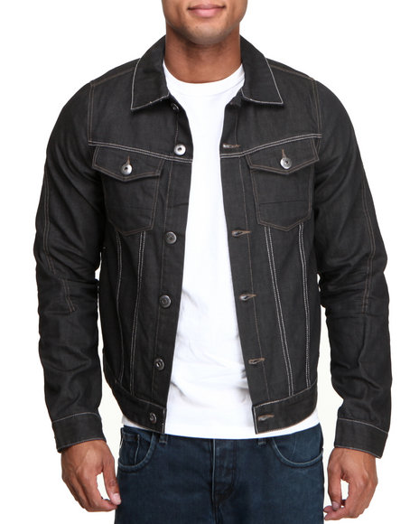 A Tiziano Dark Wash Alder Coated Denim Jacket