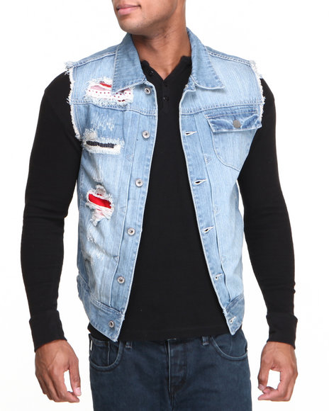 Parish Medium Wash Thunderfish Denim Vest