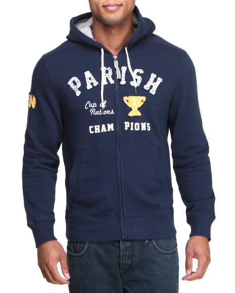 Parish Navy Parish Full Zip Hoodie
