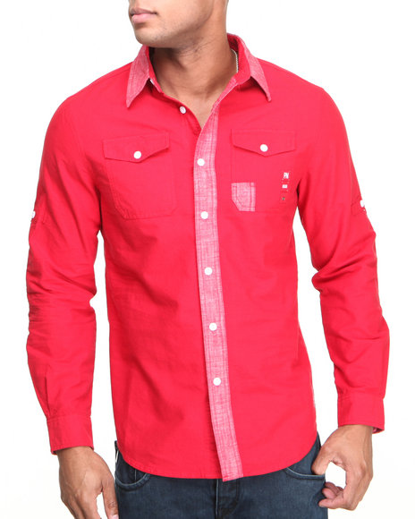 Parish Red Venture L/S Button-Down