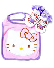 Infant & Newborn - HELLO KITTY BIBS & BOOTIES SET (NEWBORN)