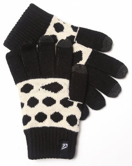 Volcom Women Poker Dot Gloves Black