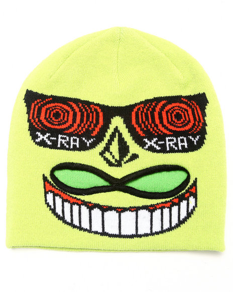Volcom Boys Strange Mid-Face Mask Lime Green
