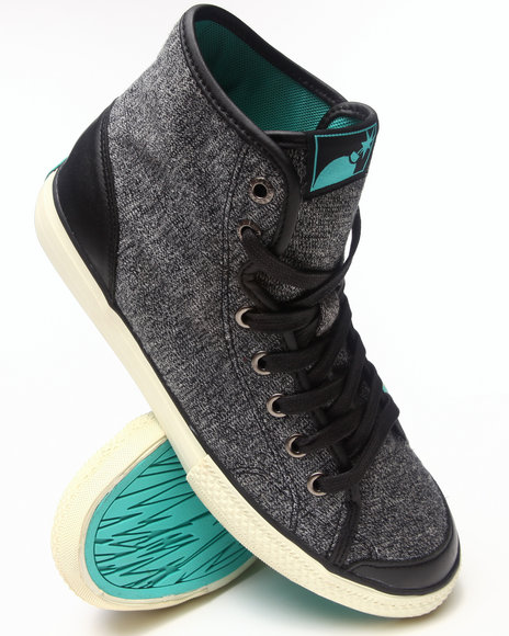 The Hundreds Black Valenzuela High Marble Knit Sneakers