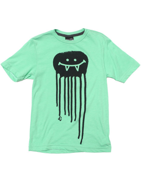 Volcom Boys Green Octo Smile Tee (8-20)