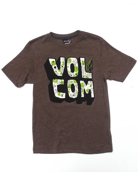 Volcom Boys Dark Brown Sieben Tee (8-20)